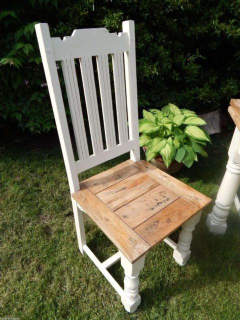 Rustic Oak Finish Chair (painted)